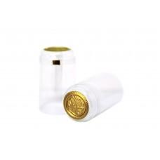 Termokapsle 30,5x60 mm transparentní, zlatý top