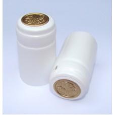 Termokapsle 28,5-30,8x55 mm bílá 1001, zlatý top