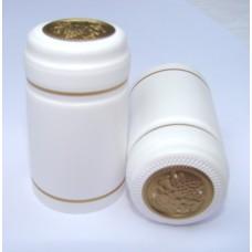 Termokapsle 28,5-30,8x55 mm bílá 1002, zlatý top