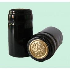 Termokapsle 28,5-30,8x55 mm černá 5009, zlatý top