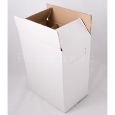 Karton na 6 lahví-na stojato hnědý