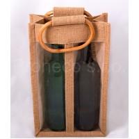 Jutová taška na 2 lahve