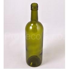 Láhev bordó olivová šroubovací uzávěr