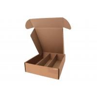 Dárkový karton na 3 lahve delší/ hnědá naležato