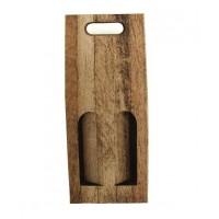 Dárkový karton 2 lahve/ dekor dřevo