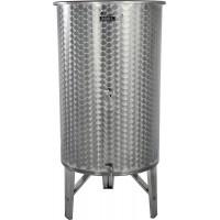 Nerezová nádoba 380 l/ 2 ventily