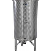Nerezová nádoba 800 l/ 3 ventily