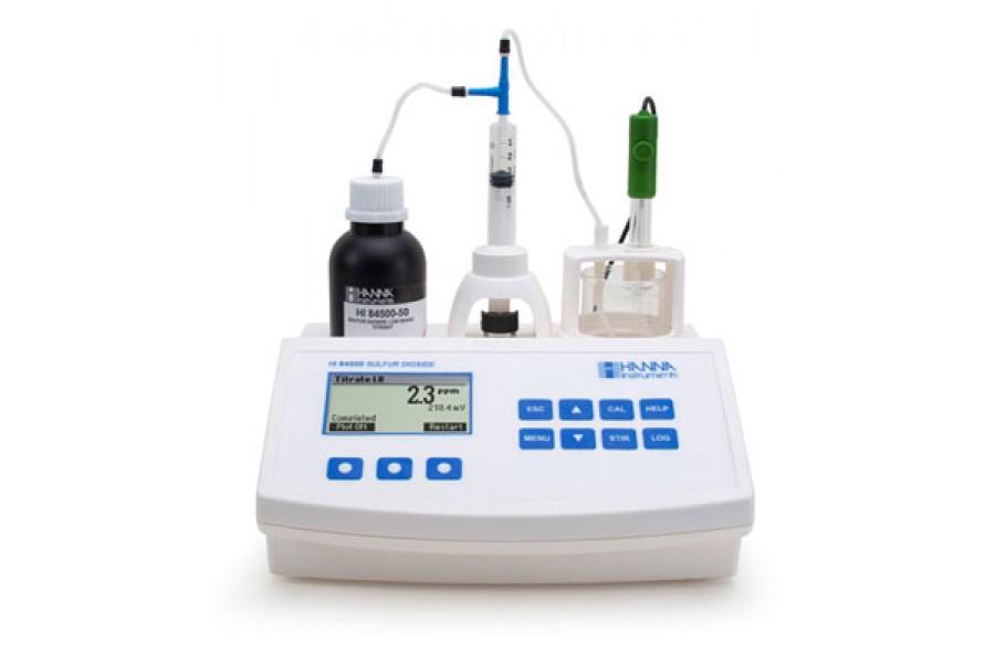 Titrátor pro měření oxidu siřičitého ve víně  obrázek